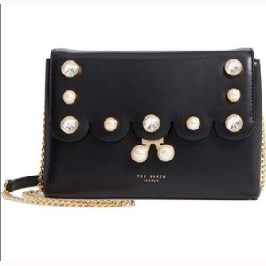 NWT Ted Baker scalloped leather Saraa handbag